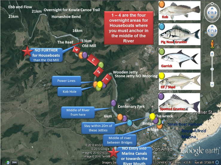Houseboats River Map | Houseboats Port Alfred